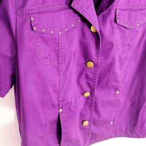 Tanjay Purple button up top